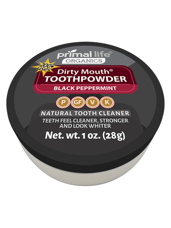 Black Peppermint Dirty Mouth Toothpowder 1oz.