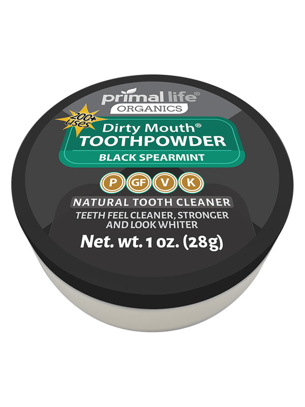 Black Spearmint Dirty Mouth Toothpowder 1 oz.