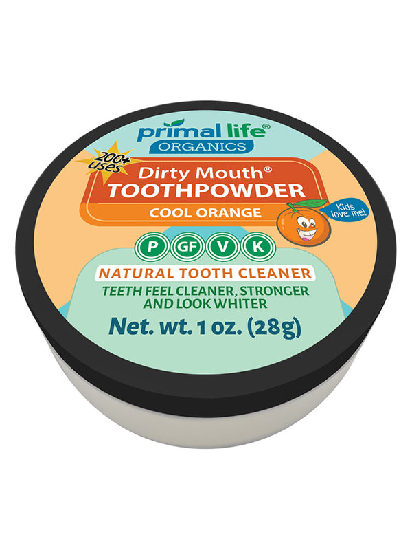 Kids Cool Orange Dirty Mouth Toothpowder 1 oz.