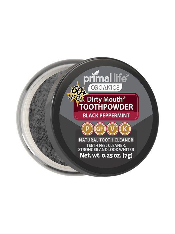 Black Peppermint Dirty Mouth Toothpowder 0.25 oz.