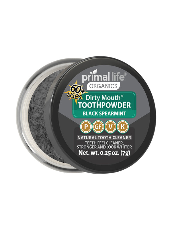 Black Spearmint Dirty Mouth Toothpowder 0.25 oz.