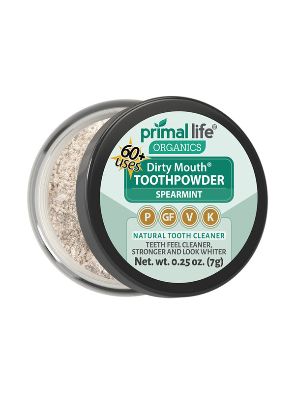 Spearmint Dirty Mouth Toothpowder 0.25 oz.