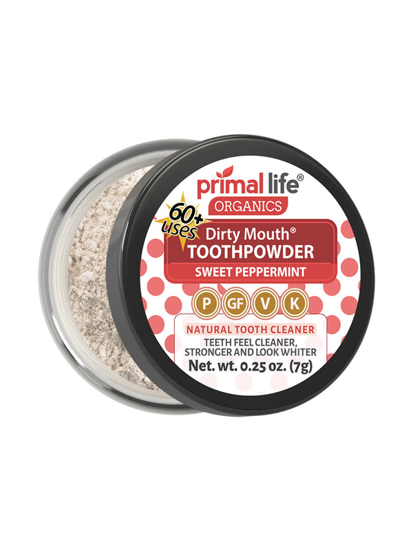 Sweet Peppermint Dirty Mouth Toothpowder 0.25 oz.