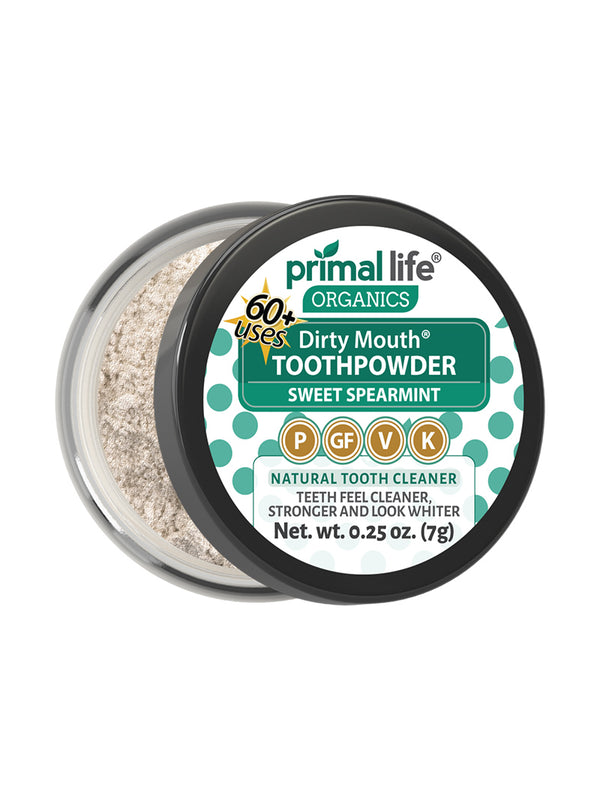 Sweet Spearmint Dirty Mouth Toothpowder 0.25 oz.