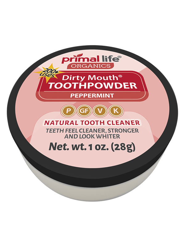 Dirty Mouth Primal Life Organics Toothpowder Peppermint