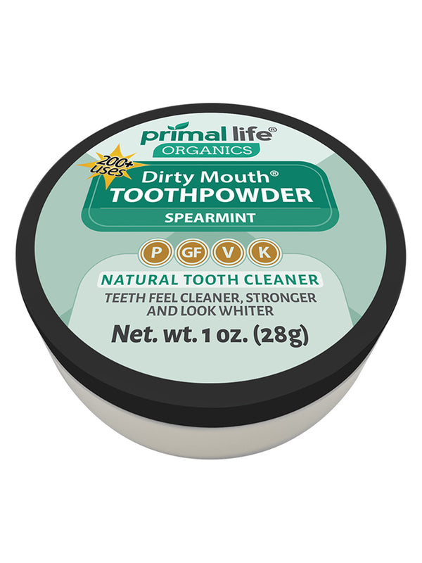 Spearmint Dirty Mouth Toothpowder 1oz.