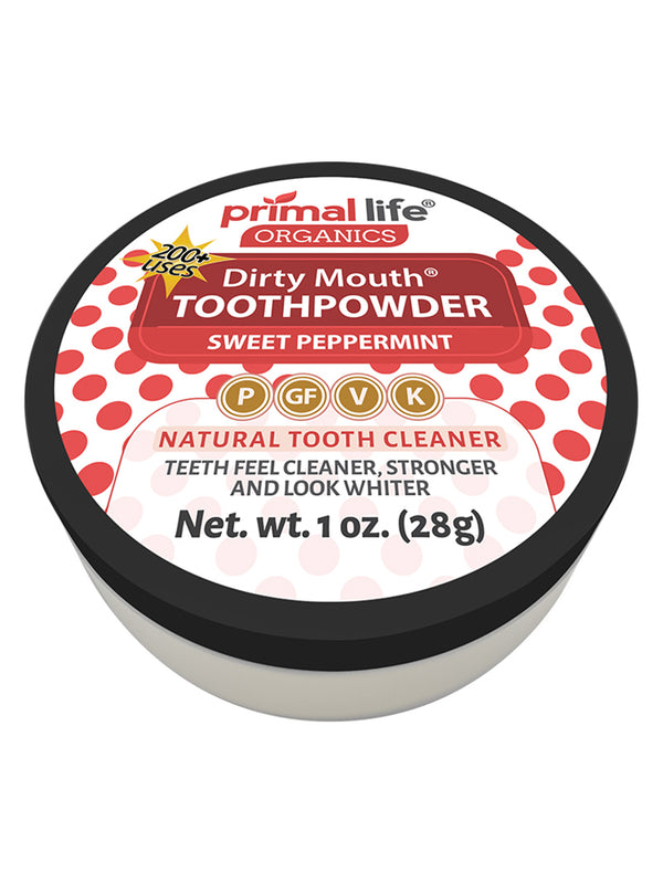 Sweet Peppermint Dirty Mouth Toothpowder 1 oz.
