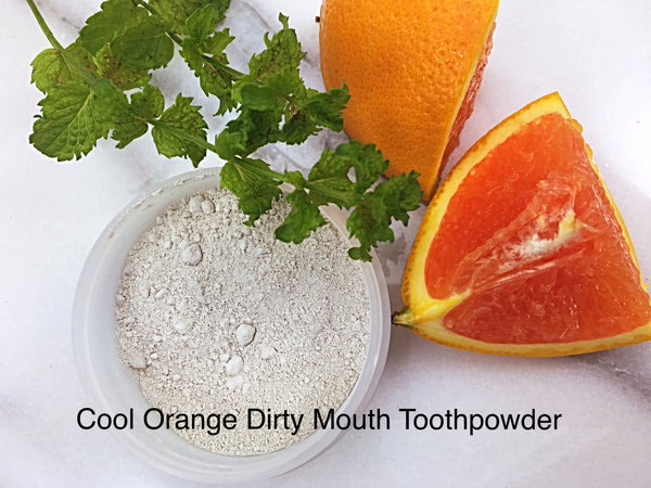 Cool Orange Dirty Mouth Toothpowder from Primal Life Organics