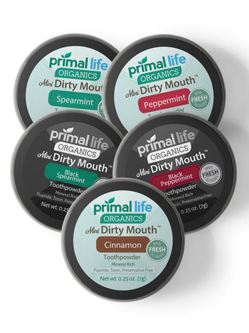 Dirty Mouth Toothpowder MINI 5-Pack