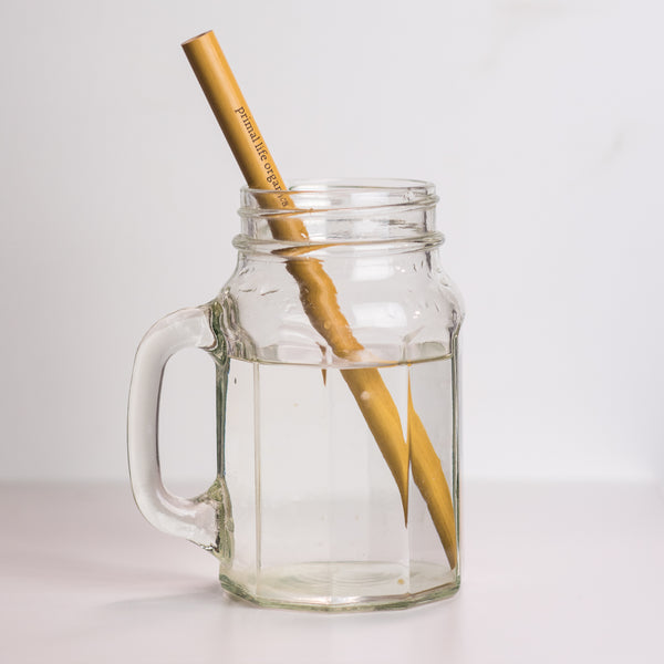 Bamboo Straw in water