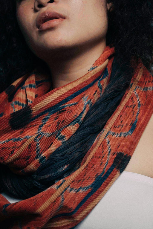 Handwoven Ikat scarf, ethically handmade and naturally handdyed, RUPAHAUS