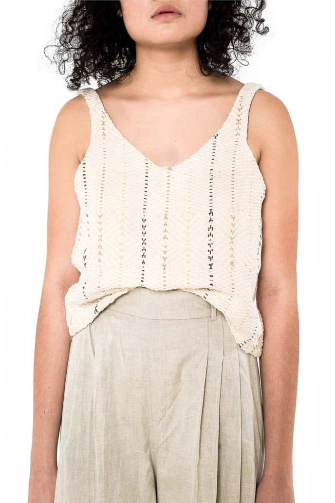 Ethical womenwear top, ethically handwoven and naturally handdyed, RUPAHAUS