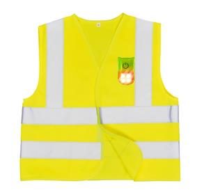 HI-VIS JUNIOR VEST WITH ATTACHABLE MAGNETIC LED