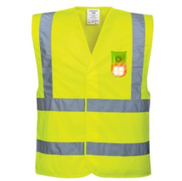 HI-VIS TWO BAND & BRACE VEST WITH ATTACHABLE MAGNETIC LED