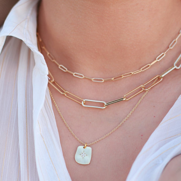 Gold Plated Pave Northstar Dainty Necklace - shopthecrowns
