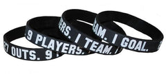 27 Outs. 9 Players. 1 Team. 1 Goal. Wristband