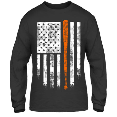 Orange and Black America's Pastime