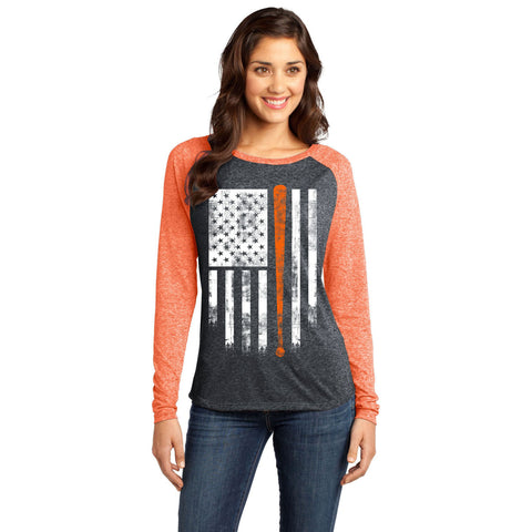 America's Pastime Orange and Black Baseball Shirt