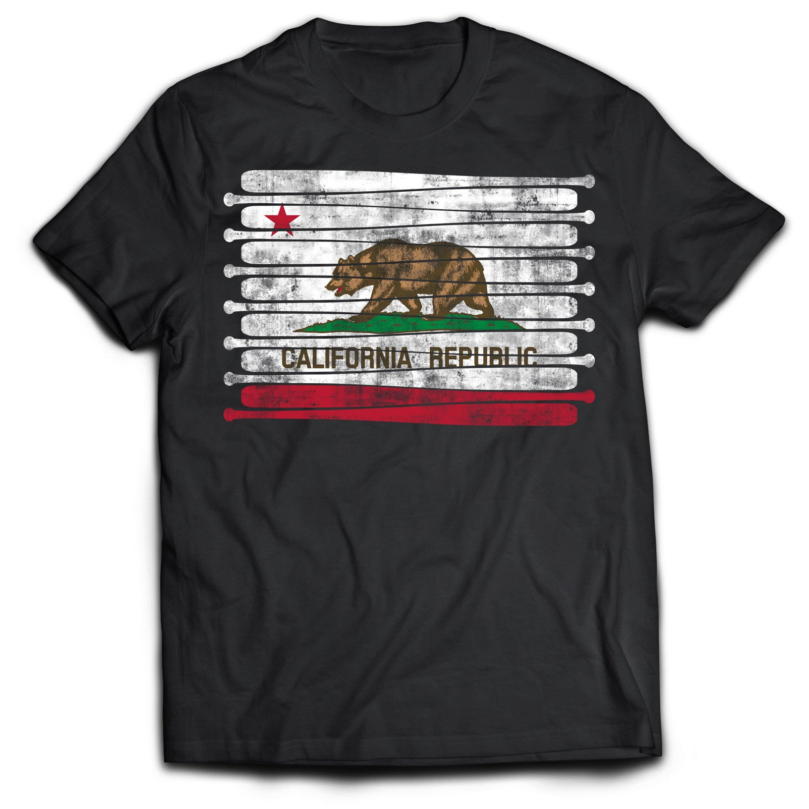 California Baseball Flag T-Shirt