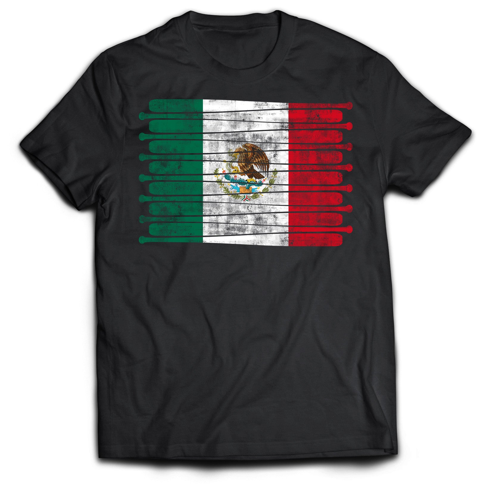 Mexico Baseball Flag T-Shirt