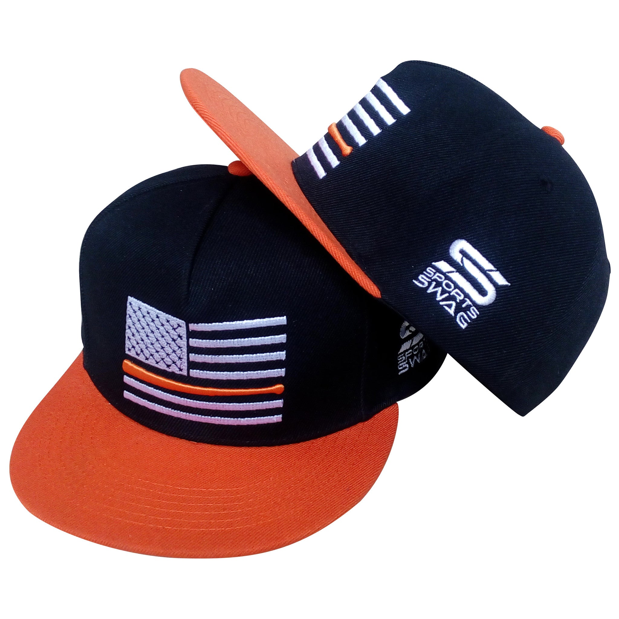 America's Pastime Orange and Black Snapback