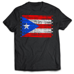 Puerto Rico Baseball Flag Shirt