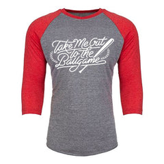 Take Me Out To The Ballgame 3/4th Baseball Shirt