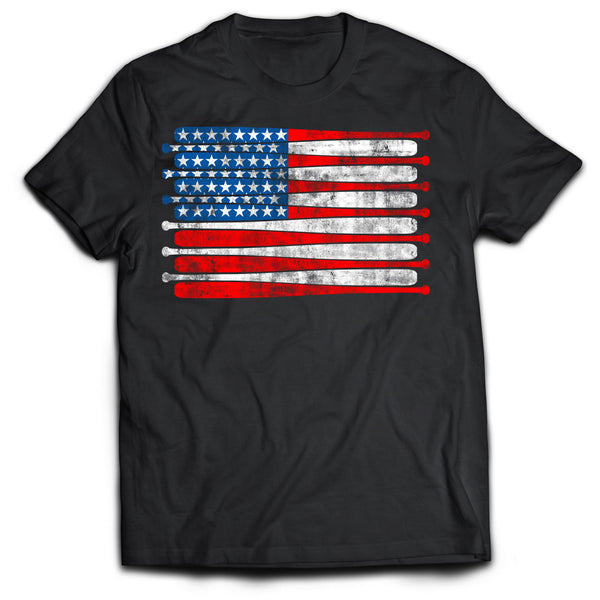 American Baseball Flag T-Shirt