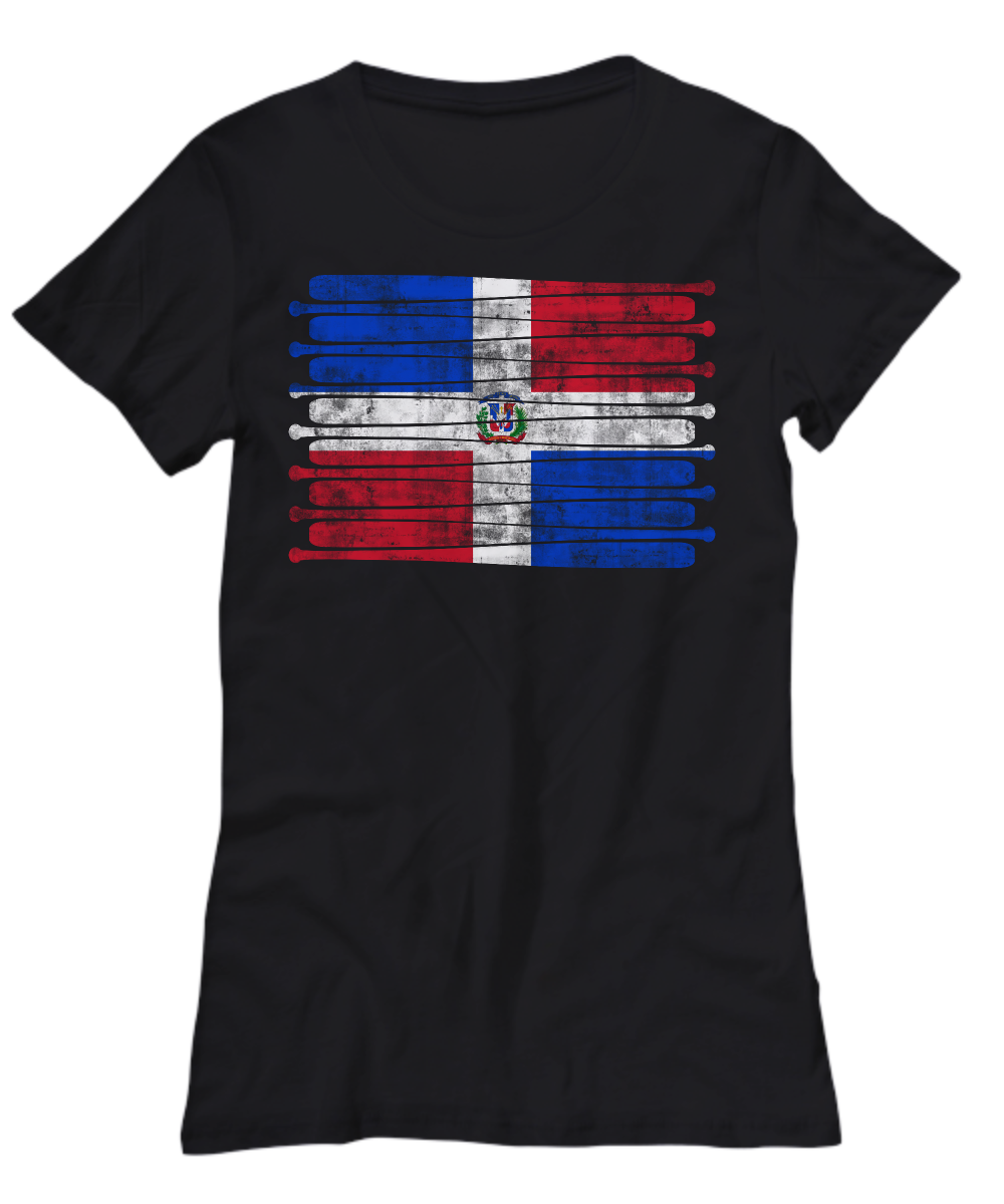 Dominican Republic Pastime Flag Shirt