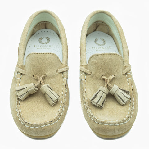 Tan Suede Loafer with Tassel