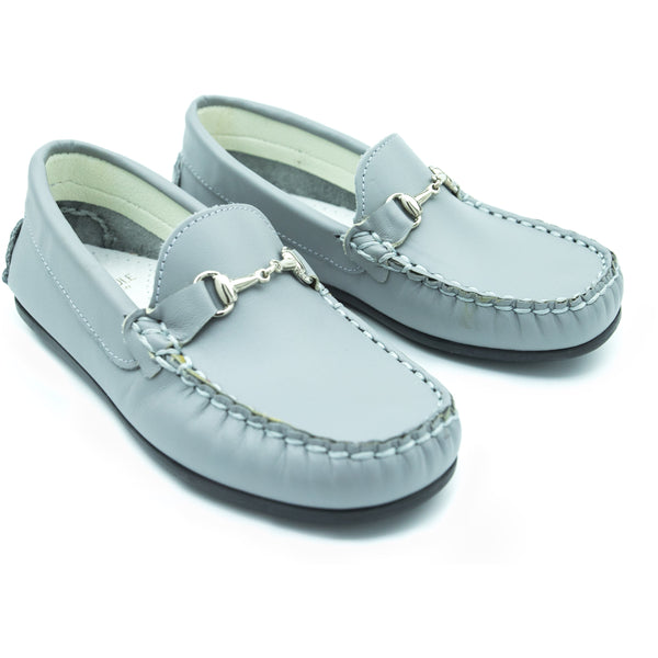 Grey Horsebit Loafer
