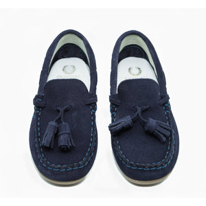 Loafer Duke Navy Suede with Tassel