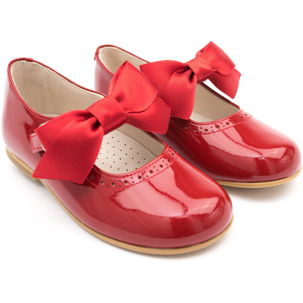 Mary Jane Red with Detachable Satin Bow