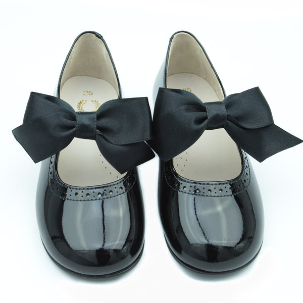 Mary Jane Black with Detachable Satin Bow
