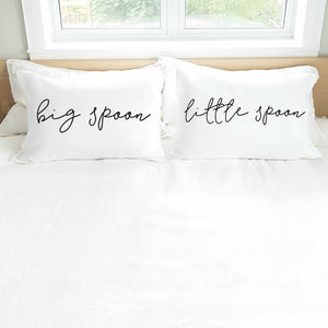 'Big Spoon Little Spoon' Pillowcase Set (pair)