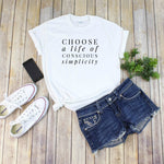 Conscious Simplicity Tee Shirt, in white