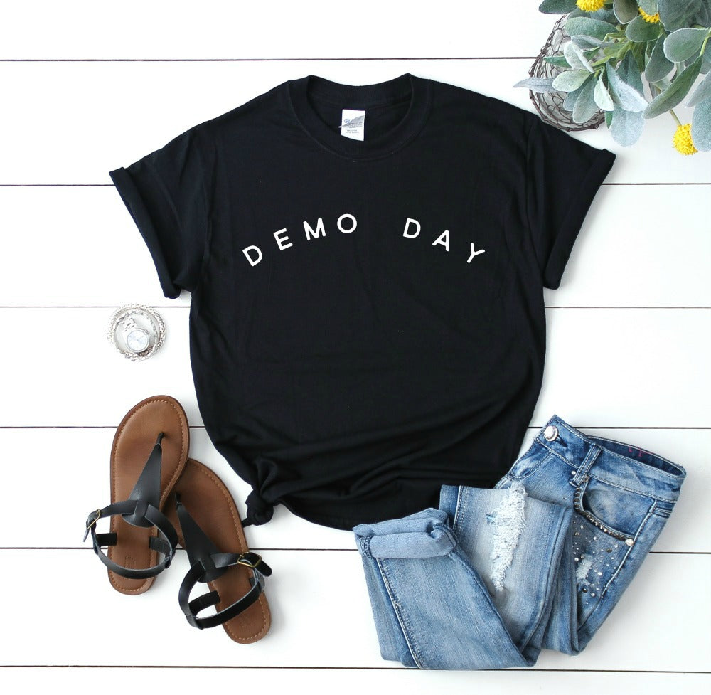 Demo Day Tee Shirt, in black