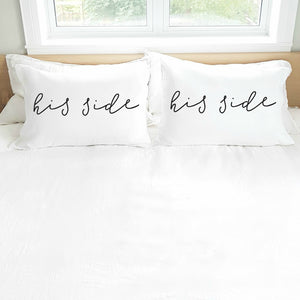 'His Side. His Side.' Pillowcase Set (pair)