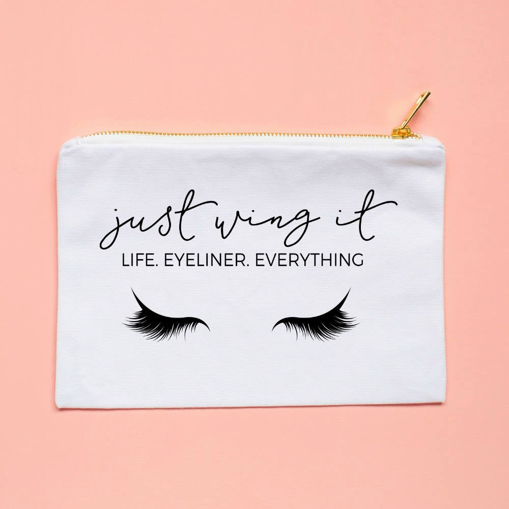 Just wing it: Life, Eyeliner, Everything Cosmetic Bag