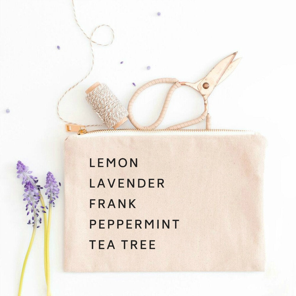 Essential Oils Cosmetic Bag