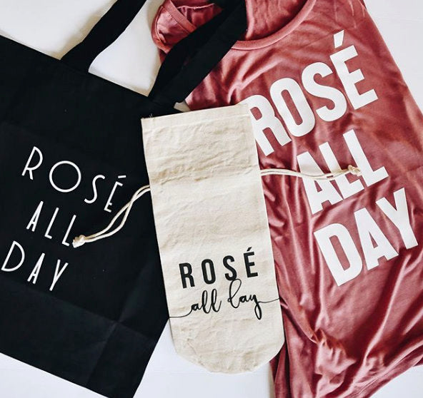 Rose All Day Tote Bag (in black)