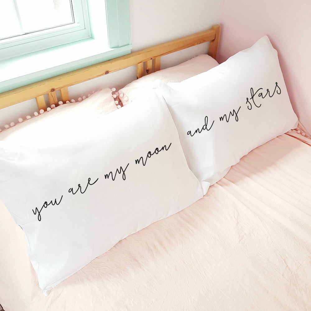 'You are my moon and my stars' Pillowcase Set (pair)