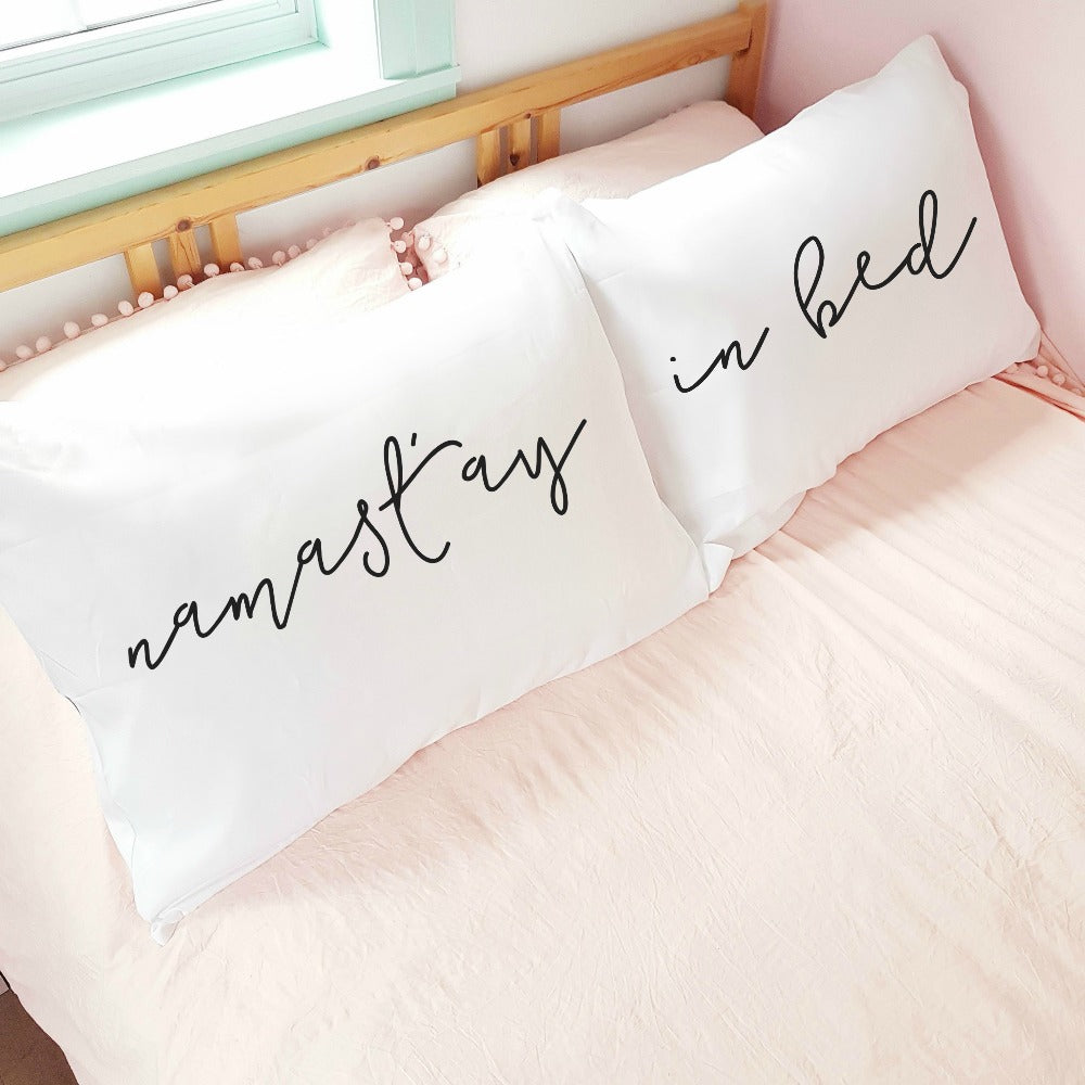 'Namastay in Bed' Pillowcase Set (pair)