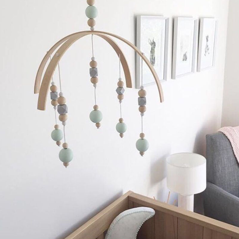 Nordic Inspired Wooden Baby Mobile