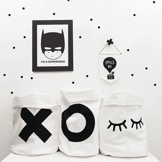 Scandi Black and White Canvas Bags