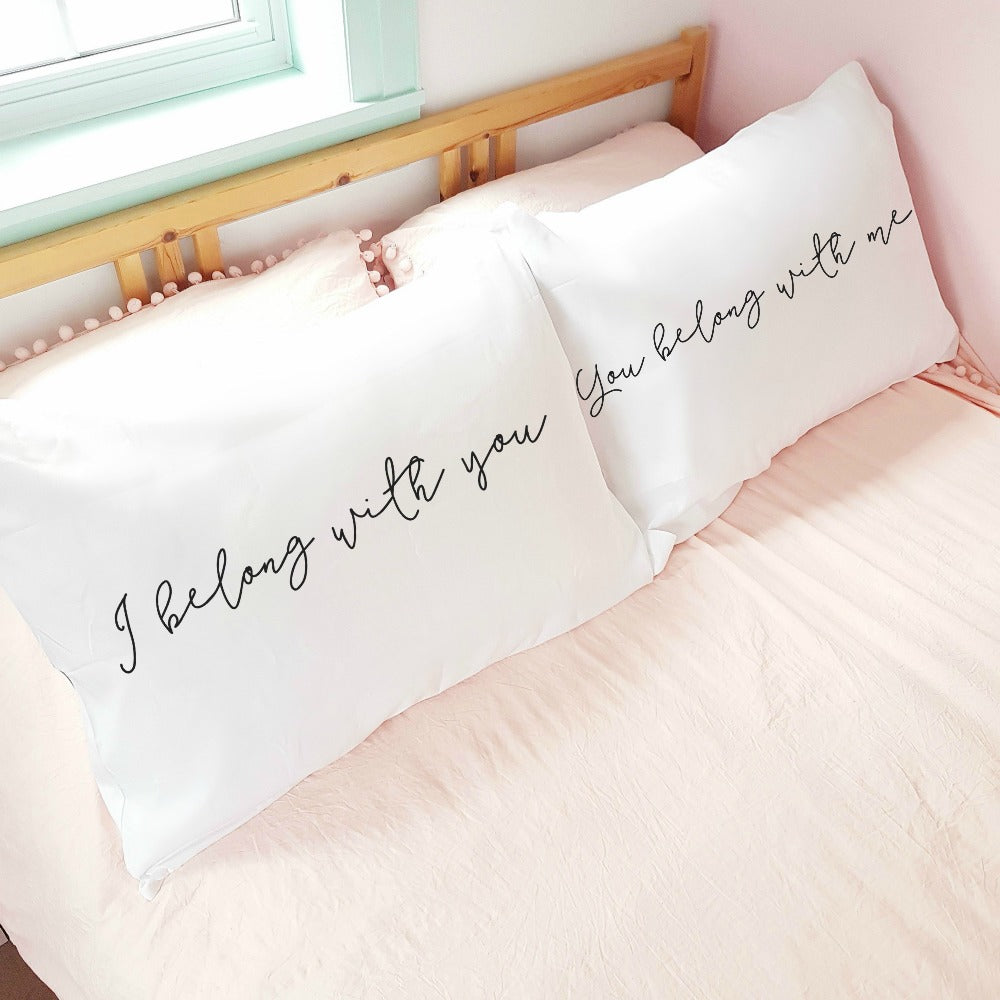 'I Belong with You' Pillow Case Set (of 2)
