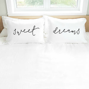 'Sweet Dreams' Pillowcase Set (pair)