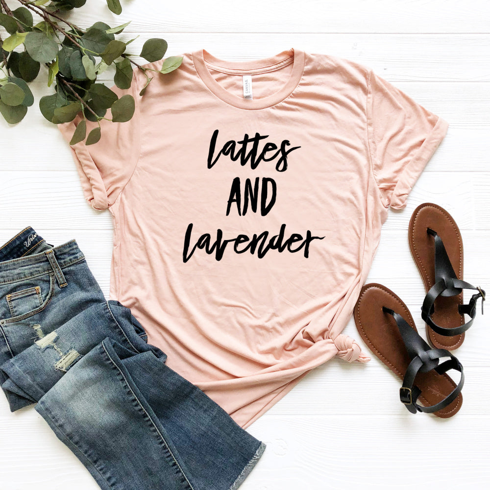 Lattes and Lavender Tee Shirt