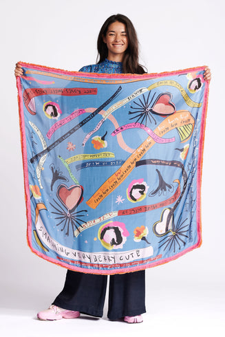 SHAWL - Colourful Dreams Blue