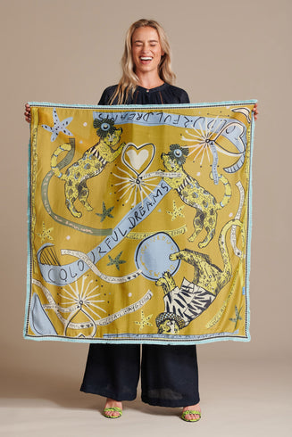 SHAWL - Colourful Dreams Ochre